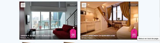 Airbnb - Haut de page