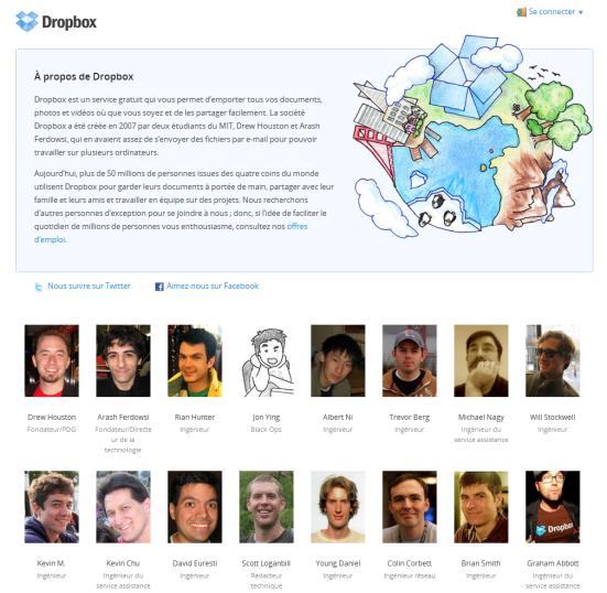 Dropbox - Présentation de l'équipe