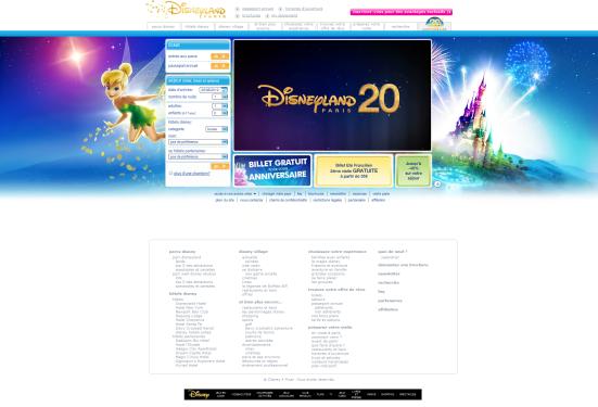 Disneyland Paris - Page d'accueil