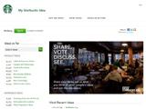 My Starbucks Idea : des idées à lacarte