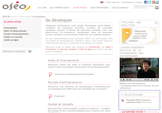 OSEO - Informations sur les types de documents