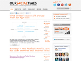 Our Social Times : design sympa mais…