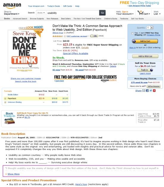 Amazon tronque parfaitement ses contenus