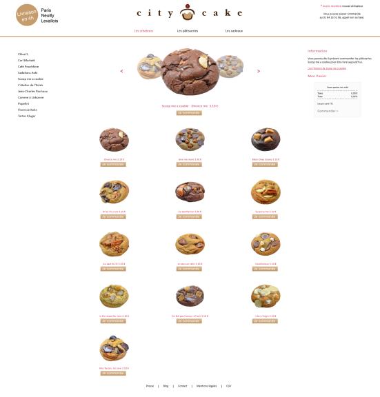Citycake - 1er  site de vente dédié à la pâtisserie Haute couture