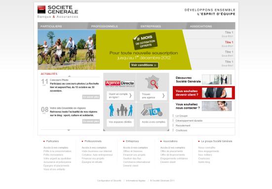 Banque en ligne Société Générale - Un diaporama incomplet