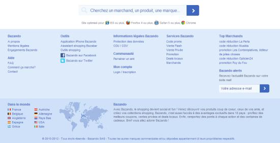 Bazando - Affichage des navigateurs compatibles avec le site