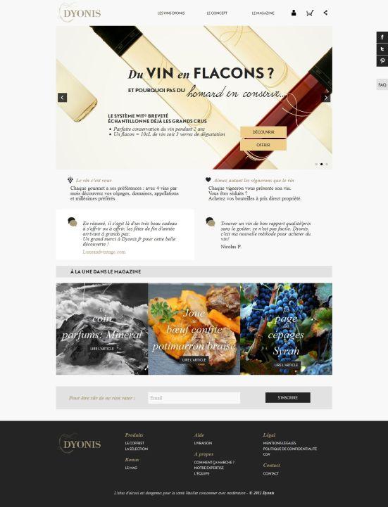 Dyonis - Pas simple de comprendre très rapidement le concept du site