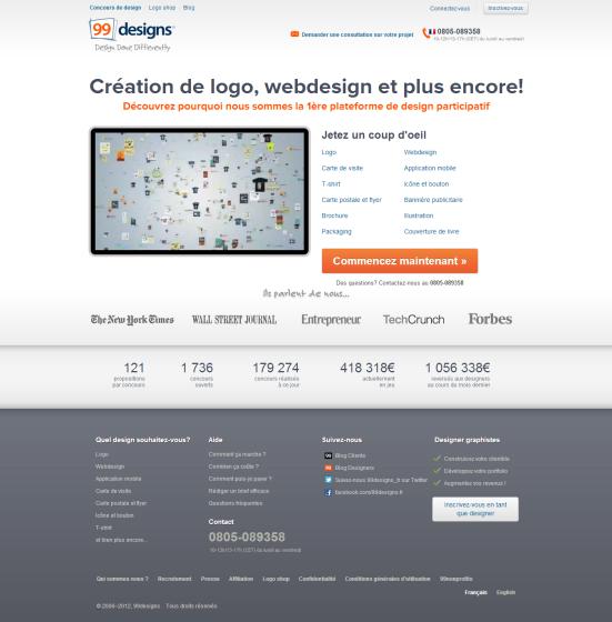 99designs - La 1ère plateforme de design participatif