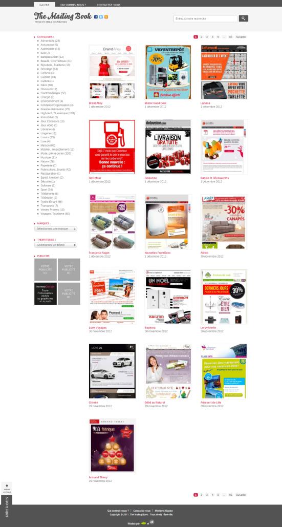 The Mailing Book - Un site qui regroupe les newsletters des plus grandes enseignes françaises