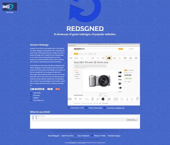 Redsgned - Un site qui regroupe des redesigns non sollicités