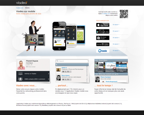 Viadeo - Page mobile
