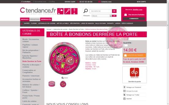 """Ctendances - Action au clic sur le bouton """"Ajouter au panier"""""""