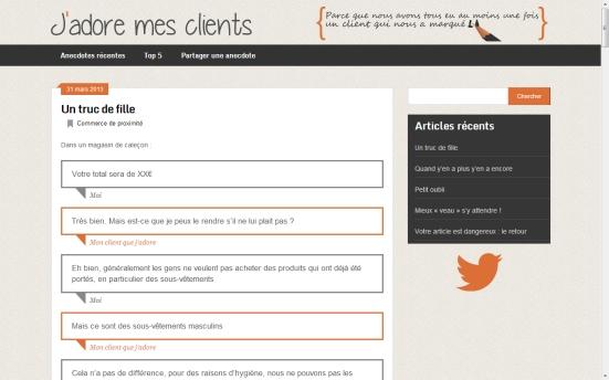 jadoremesclients.com - Partage d'anecdotes entre  les entreprises et leurs clients