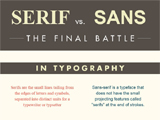 Little Big Details : serif versus sansserif