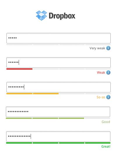 Les bonnes pratiques de Dropbox pour la création d'un mot de passe