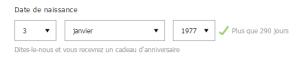 ASOS vous indique le nombre de jours à patienter avant votre anniversaire